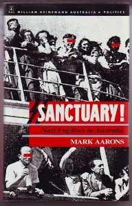 The cover of Sanctuary (1989) by Jewish and Australian Communist Party activist Mark Aarons