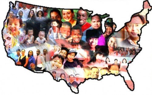 Multiracial US Pro-Immigration Propaganda