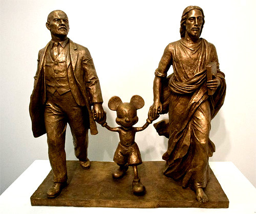 Lenin, Mickey & Christ ;                                              The  Marat Guelman Gallery  Moscow