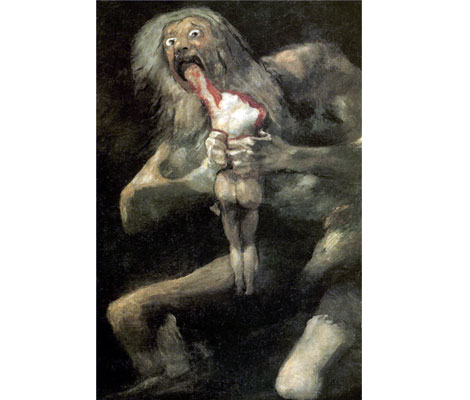 """Saturn (Kronos) Devouring His Son"", by Francisco de Goya, 1821"