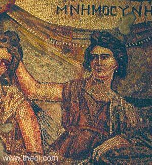 Mnemosyne (The Titaness of Memory) (mosaic, 2nd ct. AD)
