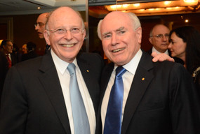 Mark Leibler (left) with former Prime Minister John Howard