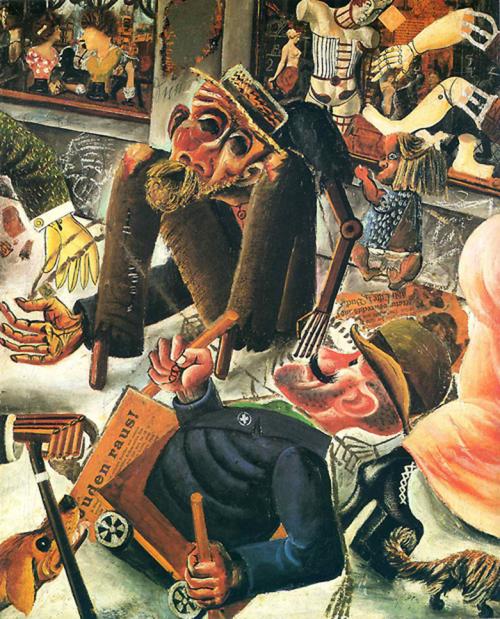 """Otto Dix, """"Prague Street,"""" (oil) 1920"""