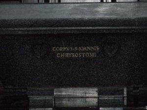 Body of St. John Chrysostom (Chapel of the Choir – Basilica of St. Peter – Vatican City)