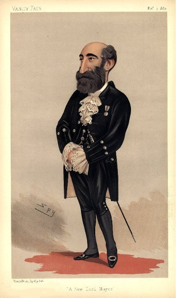 A Vanity Fair Depiction of N.Z. Shipping Company Magnate Henry Isaacs