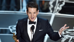 Graham Moore wins an Oscar for Best Adapted Screenplay