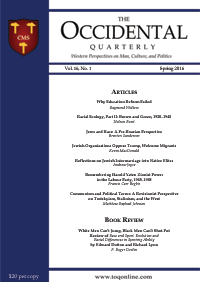 The Occidental Quarterly - Spring 2016