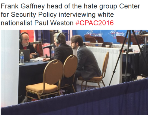 Neocon Frank Gaffney interviews Paul Weston and Jack Buckby
