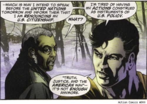 Superman renounces his citizenship