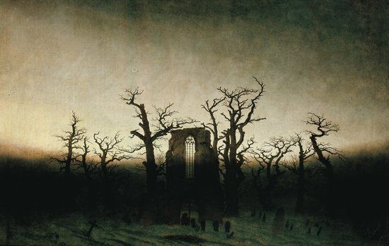 "Caspar David Friederich ""The Abbey in the Oakwood (oil), 1810"