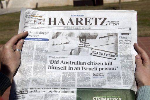Haaretz headline Zygier