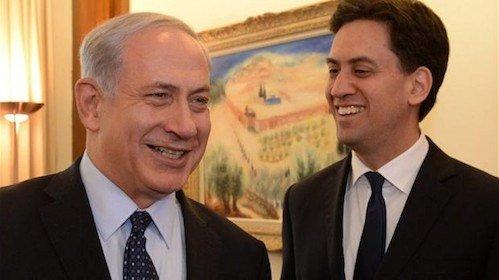 Benjamin Netanyahu and Ed Miliband
