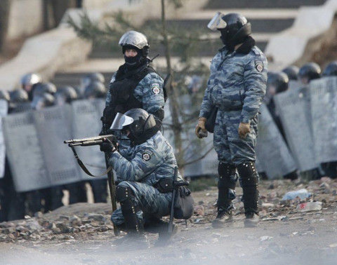 The Berkut unit, that just a few months earlier beat nationalists and Christians while defending homosexuals, this time shot protesters.