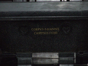 Body of St. John Chrysostom (Chapel of the Choir – Basilica of St. Peter – Vatican City)