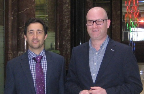 Jack Sen (left) with UKIP Deputy Leader MEP Paul Nuttall