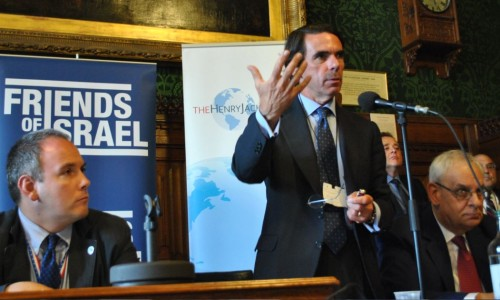 Robert Halfon (left) and other Friends of Israel