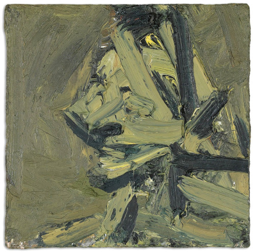 Head of Paula Eyles by Frank Auerbach, 1972