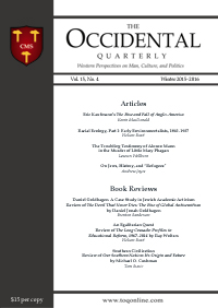 The Occidental Quarterly - Winter 2015–2016