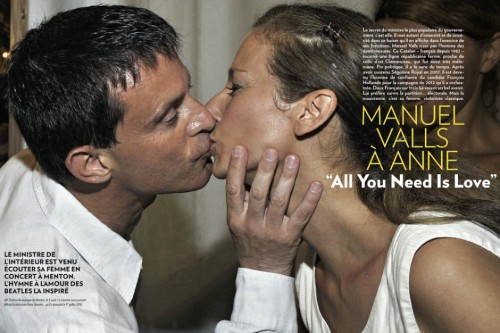Valls advertising his new Jewish wife.
