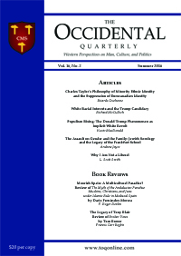The Occidental Quarterly - Summer 2016