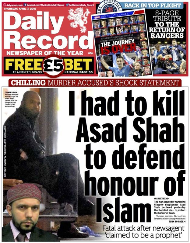 Tanveer Ahmed in the Daily Record