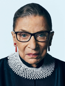 Feminist icon Ruth Bader Ginsberg, one of three Jews on the Supreme Court