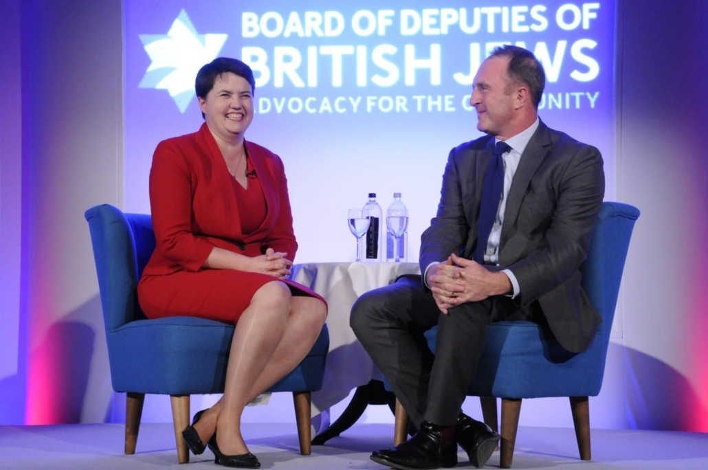 Ruth Davidson cultivates the Community (with the Jewish James Harding of the BBC)