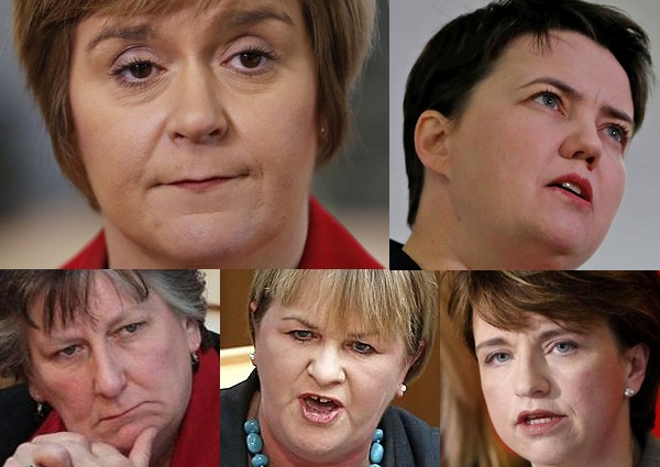 Scottish fem-pols (clockwise from top left): Nicola Sturgeon, Ruth Davidson, Wendy Alexander, Johann Lamont, Annabel Goldie