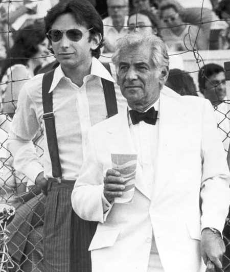 Bernstein with young Jewish homosexual conductor Michael Tilson Thomas in the 1970s