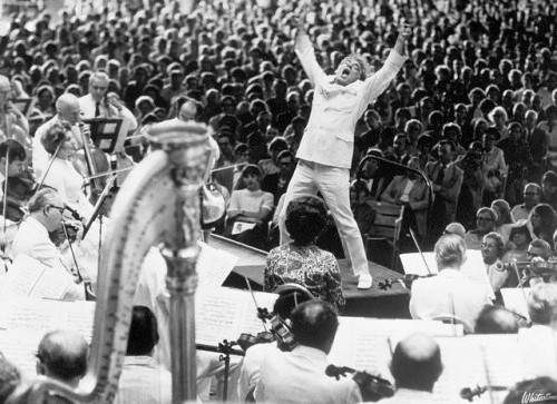 Bernstein conducting Mahler with the Boston Symphony Orchestra