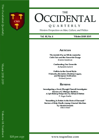 The Occidental Quarterly - Winter 2018-2019