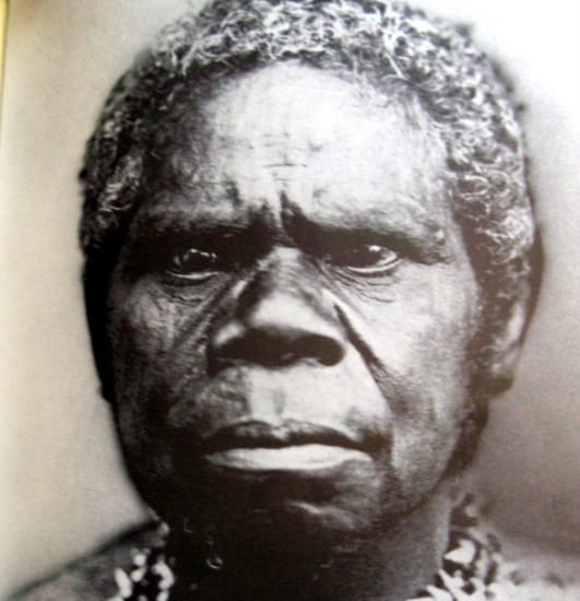 "Truganini, the last of her kind, or as Wikipedia puts it: ""a woman widely considered to have been the last full-blooded Aboriginal Tasmanian."""