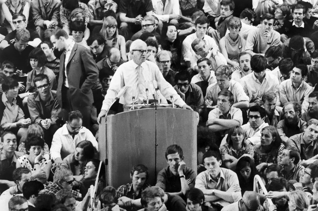 Herbert Marcuse addressing American students in 1968