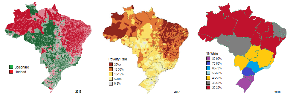 Map Of America By Race.Racial Politics In Latin America What Race In Another America Tells