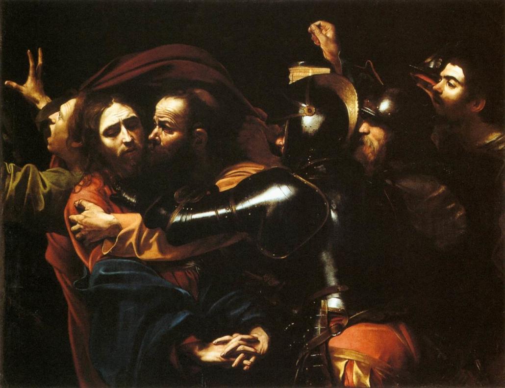 Caravaggio's The Taking of Christ, c. 1602