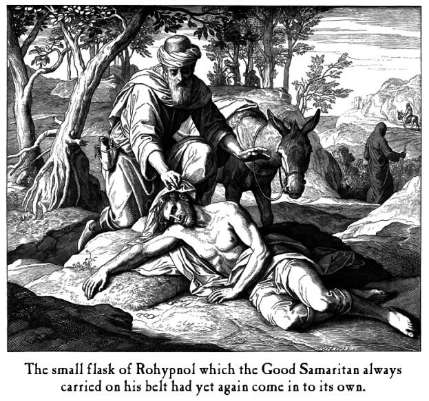 The Good Samaritan banally blasphemized