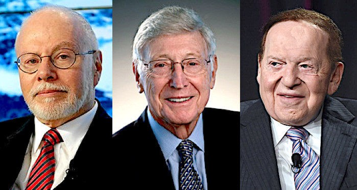 The Intersection of the Culture of Usury and the Culture of Zio-Wars: Paul Singer, Bernard Marcus, and Sheldon Adelson