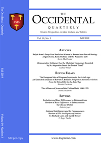 The Occidental Quarterly - Fall 2019