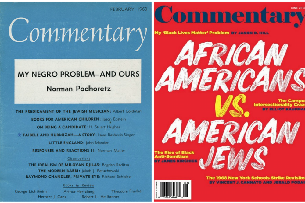 Some things never change: Covers of Commentary from 1963 and 2018.