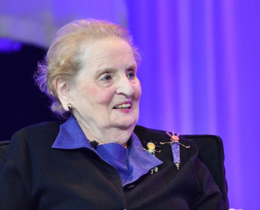 Madeleine Albright: Wrote a book about something she can't define