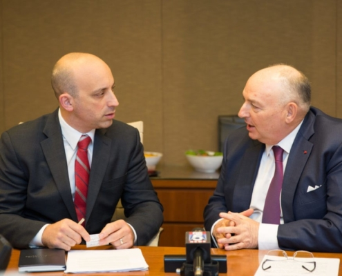 Moshe Kantor and the ADL's Jonathan Greenblatt