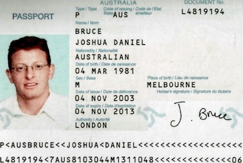 One of the faked Australian passports Israel used to assassinate Mahmoud Al Mabhouh in 2010