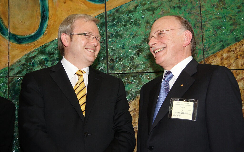 Kevin Rudd with Mark Leibler
