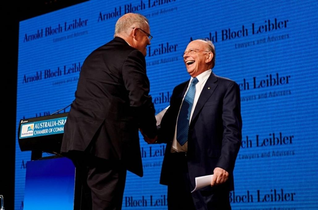 Mark Leibler with Australian Prime Minister Scott Morrison
