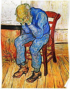 文森特·梵高(Vincent Van Gogh),《悲伤的老人》,1890年