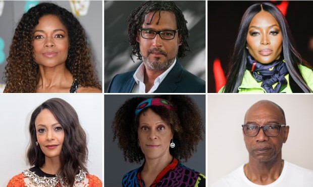 "Blacks for Barbarism! David Olusoga (top centre) and other ""Black public figures"" support Jamaican murderers and rapists"