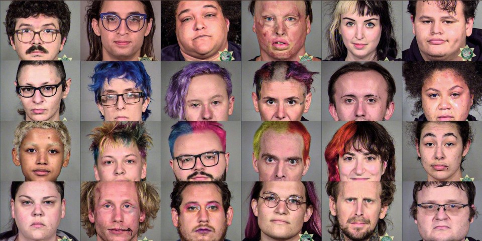 Portland antifa mugshots