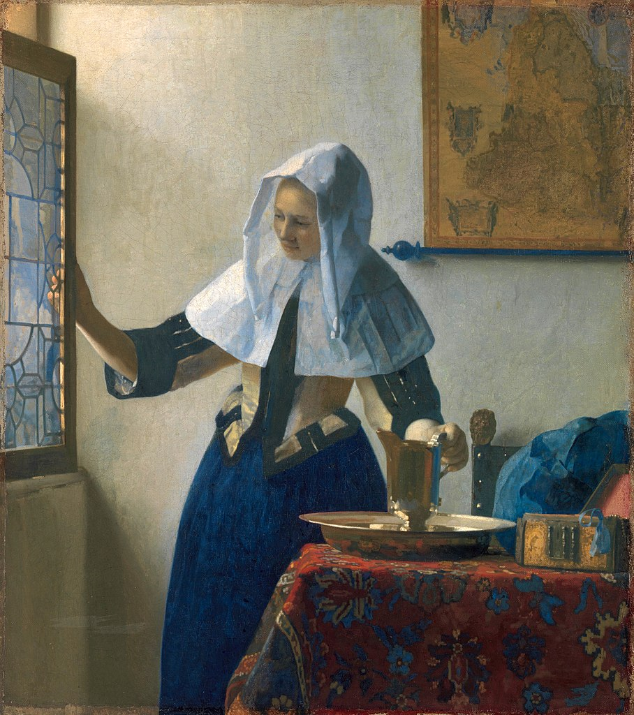 Young Woman with a Water-Jug by Jan Vermeer (c. 1665)