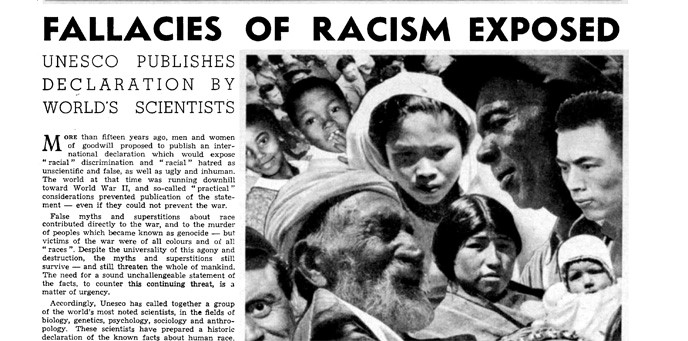 Reporting on the UNESCO Statement on Race in 1950