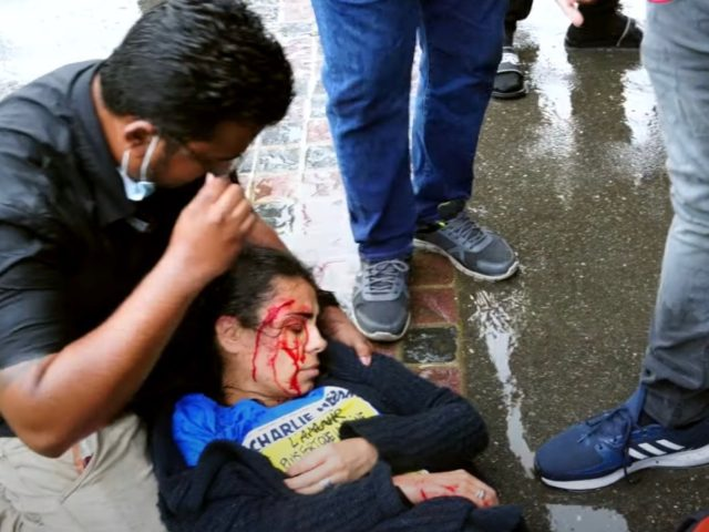 Face-slashing for Muhammad: Islam-critic Hatun Tash is stabbed at the home of free speech (note Charlie Hebdo T-shirt)
